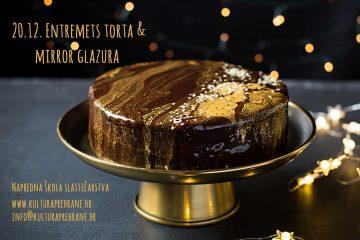 Entremets torta s mirror glazurom
