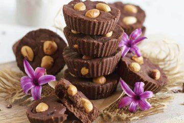 Čokoladni fudge od slanutka, lješnjaka i brusnica