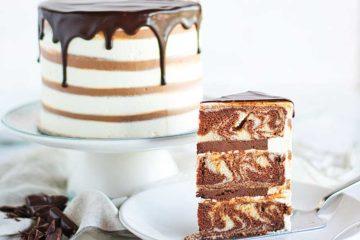 Mramorna zebra torta