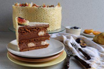 Čokoladna torta s medom i kruškama