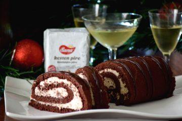 Rolada od čokolade s kremom od kestena