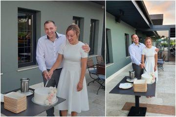 Akcija #recimoimhvala: koroni usprkos, uz tortu iz slastičarnice Amélie, Iva i Tomislav proslavili su ulazak u bračnu luku