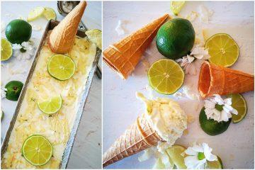 Sladoled od limete s bijelom čokoladom i kokosom
