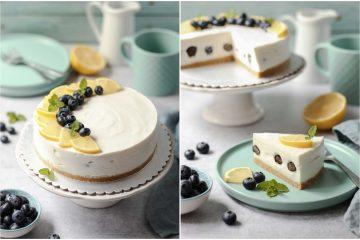 Jogurt torta od limuna i borovnica