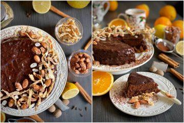 Ušećereni bademi i arancini daju posebnu čar ovoj božićnoj torti