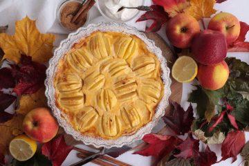 Tart od jabuka s likerom od jaja