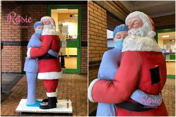 Zagrljaj medicinske sestre i Djeda Mraza dirnuo svijet