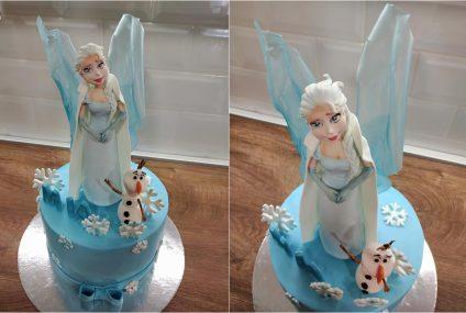 Posebna torta za malu lavicu: Olaf i Elsa za proslavu najvažnije životne pobjede