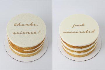 """Torta """"Just vaccinated"""": slatki način objave cijepljenja"""