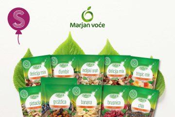 Rođendanski mjesec na Slatkopediji: Marjan voće vam daje paket pun Natura proizvoda